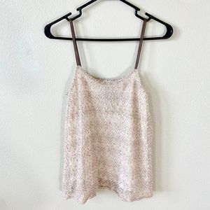 NWT Anthropologie Deletta XS Tank Knit Sequins
